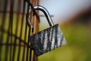 A padlock, symbolizing the authority and trust needed in Google's YMYL Search Quality Ratings
